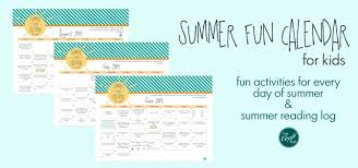Summer Fun Calendar For Kids With Free Printables