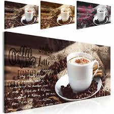 details zu kaffee leinwand bild kunstdruck küche modern wand bilder esszimmer 3 motiven