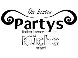 wandtattoo die besten partys finden immer in der küche statt nr 2