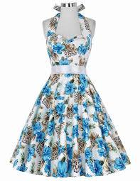 real picture 50s rockabilly dresses floral print retro vintage 60s