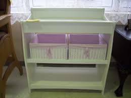 Baby Changer Dresser Unit by Custom Diy Baby Crib With Changing Table Attached With Shelves And