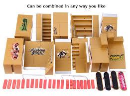 Cheap Wooden Tech Decks by 11pcs Skate Park Kit For Tech Deck Finger Board 31 11 Online