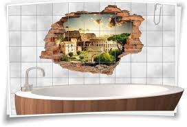 fliesen aufkleber 3d fliesen bild fliesen wand durchbruch badezimmer deko italienisch italien reise n rom hitheater