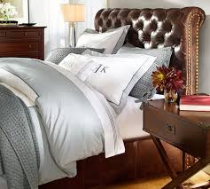 chesterfield leather bed headboard pottery barn umm i need