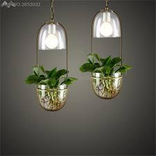 JW Kreatif DIY Tanaman Bunga Liontin Cahaya Kaca Kap Lampu Gantung Untuk Ruang Balkon Restoran