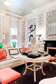 Lovely Use Of Geometric Pattern In The Living Room Design Tobi Fairley Interior