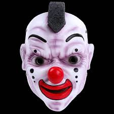 Payday 2 Halloween Masks Disappear by High Quality 2017 New Resin Penny Wise Clown Mask With Red Hair