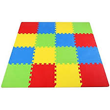 balancefrom kid s puzzle exercise play mat with 16