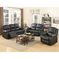 100 2 Sofa Living Room Details About 31 Set Loveseat Couch Recliner Leather Furniture Black