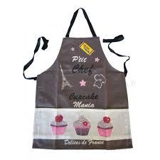 tablier de cuisine enfant cupcake p chef gris provence