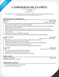 Grocery Store Cashier Resume Samples