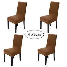Gold Fortune Spandex Fabric Stretch Removable Washable Dining Room Chair Cover Protector Seat Slipcovers Set Of