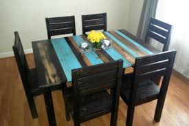 Attractive Rustic Kitchen Tables For Modern Dining Room Design With Wood Distressed