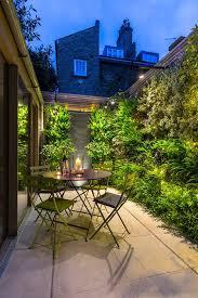 walled garden patio contemporary with trellis modern path lights