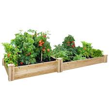 Greenland Gardener Raised Bed Garden Kit by Greenes Fence 48 In X 96 In Cedar Raised Garden Bed Rc 4c8t2