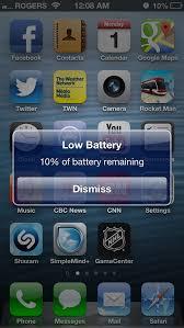 10 percent battery