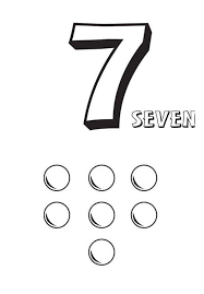 Learn Number 7 With Seven Balls Coloring Page