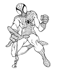 Coloring Pages Of Spiderman In Action For Kids To Colour 263x300