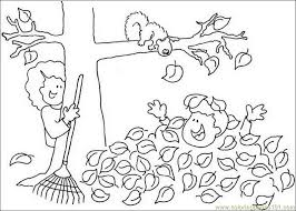 Fall Tree Leaf Natural World Autumn Free Printable Coloring Page