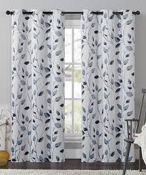 Dkny Mosaic Curtain Panels by Blue Leaf Printed Blackout Curtain Panel By Victoria Classics
