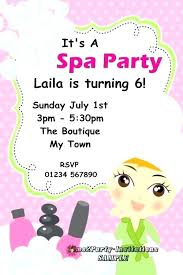 Pamper Party Invite Template Gallery Design Ideas Invitation