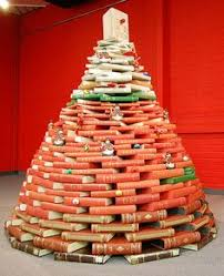 Christmas Tree Books Diy by Christmas Tree Made From Library Catalog Boxes Librarians