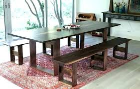 Dining Room Bench Table Seating Upholstered With How To Build A