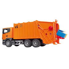 Bruder Scania R-Series Garbage Truck - Orange | EBay