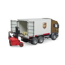 Bruder Scania R Series UPS Logistics Truck With Forklift - Jadrem Toys