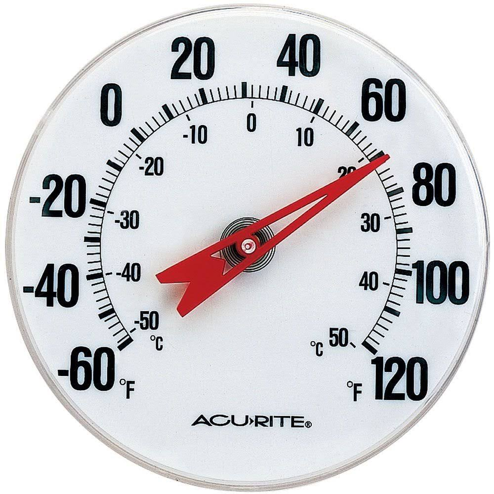 "AcuRite 00346A2 Thermometer Indoor/Outdoor - 5"", with Mounting Bracket"
