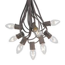 clear c7 outdoor light string sets novelty lights inc