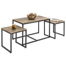100 Living Room Table Modern Coffee And Nesting End 3 Piece Set 20 Inches High In Design