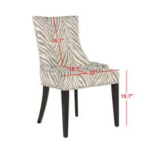Safavieh Becca Grey Zebra Cotton/Linen Dining Chair MCR4502N ... Simplicity 54 Counter Height Ding Table In Espresso Finish By Jofran Baxton Studio Sylvia Modern And Contemporary Brown Four Hands Kensington Collection Carter Chair Lanier Gray Fabric Michelle 2pack 64175 Pedestal Set Chateau De Ville Acme Whosale Chairs Room Fniture Napa Cheap Dark Wood Find Willa Arlo Interiors Sture Link Print Upholstered Safavieh Becca Grey Zebra Cottonlinen Mcr4502n