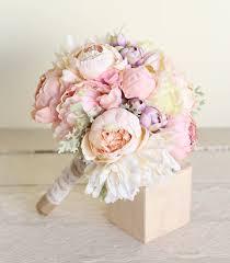 Silk Bridal Bouquet Pink Peonies Dusty Miller Garden Rustic Chic Wedding NEW 2014 Design By Morgann Hill Designs Braggingbags On Etsy