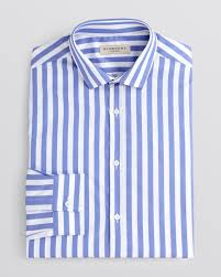 burberry london halesbury awning stripe dress shirt slim fit in