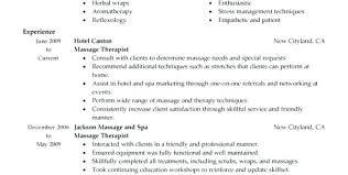New Massage Therapist Resume Examples Example Beautiful
