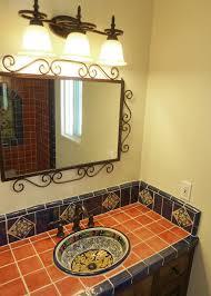 Mexican Tile Saltillo Tile Talavera Tile Mexican Tile Designs by Bathroom Vanity Using Mexican Tiles By Kristiblackdesigns Com