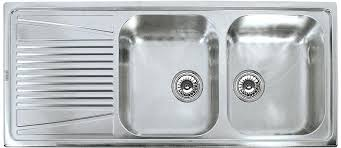 Kitchen Sinks With Drainboard Built In by Stainless Steel Kitchen Sink With Double Drainboard Single Bowl