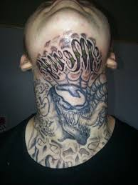 Front Neck Tattoo For Men