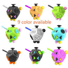 Fidget Cube 2 Toy Stress Relief 12 Side Dice For Adult Girls Boys Gift Magic