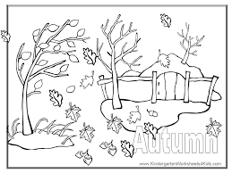 Picture Fall Coloring Pages 78 For Print With