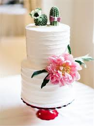 8 Colorful Mexican Inspired Wedding Cake With Succulent