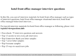 Front Desk Job Salary Hotel by Hotel Front Office Manager Interview Questions