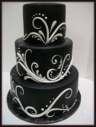 Wedding Cake Cakes Black And White Unique Elegant