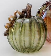 Glass Hand Blown Pumpkins by Autumn Glass Pumpkins Green The Museum Shop Of The Art