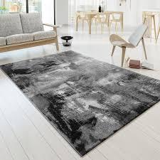 designer teppich modern arizona leinwand optik in grau creme meliert kurzflor größe 200x290 cm