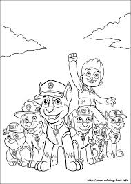 Paw Patrol Coloring Picture Pages Ryder