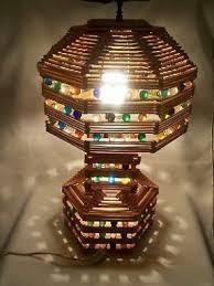 Resultado De Imagem Para Popsicle Stick Lamps