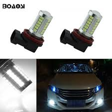 boaosi 2x h11 h8 led car canbus bulbs reflector mirror design for