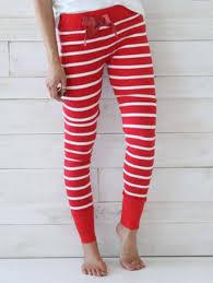 Cute Santa Claus And Rudolf Red Christmas Leggings For Women